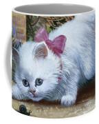 Kitten With Snail And Ball Coffee Mug