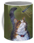 Kitty And The Dragonfly Close-up Coffee Mug