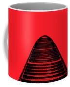 Kk100 Shenzhen Skyscraper Art Red Coffee Mug