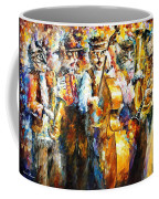 Klezmer Cats - Palette Knife Oil Painting On Canvas By Leonid Afremov Coffee Mug