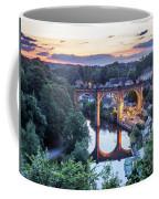 Knaresborough Viaduct Floodlit At Dusk Coffee Mug