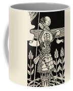 Knight Of Arthur, Preparing To Go Into Battle, Illustration From Le Morte D'arthur By Thomas Malory Coffee Mug