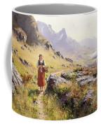 Knitting In A Norwegian Landscape Coffee Mug