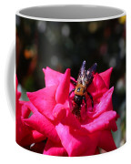 Knockout Rose And Bumblebee Coffee Mug