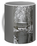 Knox Valley Forge Covered Bridge In Winter Coffee Mug