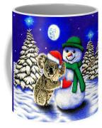 Koala With Snowman Coffee Mug