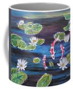 Koi In Lilly Pond Coffee Mug