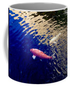 Koi On Blue And Gold Coffee Mug