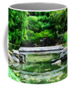 Koi Pond Bridge - Japanese Garden Coffee Mug