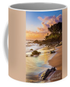 Koki Beach Sunrise Coffee Mug by Inge Johnsson