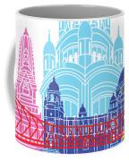 Kolkata Skyline Pop Coffee Mug