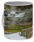 Kootenai Falls In Winter Coffee Mug