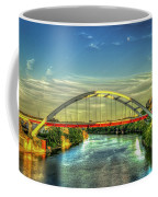 Korean Veterans Memorial Bridge 2 Nashville Tennessee Sunset Art Coffee Mug