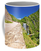 Krcic Waterfall In Knin Scenic View Coffee Mug
