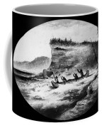 Krieghoff: Canoe On Rapids Coffee Mug