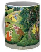 Krishna Fluting The The Milkmaids Coffee Mug