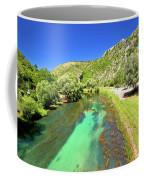 Krka River Below Knin Fortress View Coffee Mug