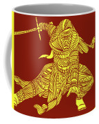 Kylo Ren - Star Wars Art - Red And Yellow Coffee Mug