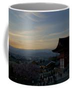 Kyoto And Kiyomizu-dera At Sunset Coffee Mug