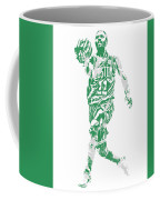Kyrie Irving Boston Celtics Pixel Art 43 Coffee Mug