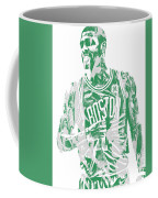 Kyrie Irving Boston Celtics Pixel Art 7 Coffee Mug