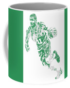 Kyrie Irving Boston Celtics Pixel Art 9 Coffee Mug