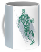 Kyrie Irving Boston Celtics Water Color Art 2 Coffee Mug