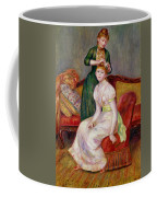 La Coiffure Coffee Mug by Renoir