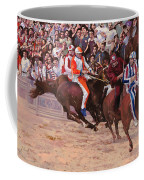 La Corsa Del Palio Coffee Mug by Guido Borelli