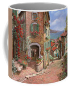 La Discesa Al Mare Coffee Mug by Guido Borelli
