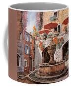 la fontana a St Paul de Vence Coffee Mug by Guido Borelli