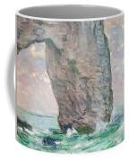 La Manneporte A Etretat Coffee Mug by Claude Monet