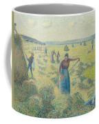 The Harvesting Of Hay Eragny  Coffee Mug