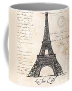 La Tour Eiffel Coffee Mug by Debbie DeWitt