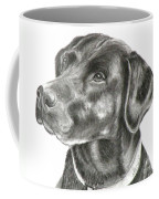 Lab Charcoal Drawing Coffee Mug
