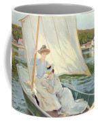 Ladies In A Sailing Boat  Coffee Mug by Jules Cayron