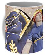 Lady And Her Pegasus Stallion Coffee Mug