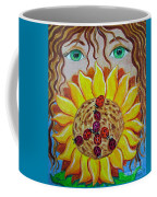 Lady Bug Peace Coffee Mug