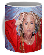 Lady Holding Locks Coffee Mug