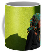 Lady In Green Coffee Mug
