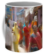Lady In Summer Yellow Coffee Mug