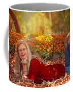 Lady In The Leaves Coffee Mug