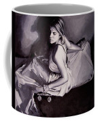 Lady Justice  Black And White Coffee Mug