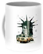 Lady Liberty And The Yellow Cabs Coffee Mug