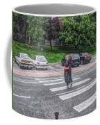 Lady On A Crossing Coffee Mug