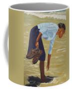 Lady On The Seashore Coffee Mug