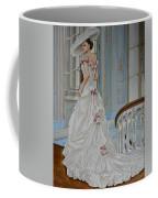 Lady On The Staircase Coffee Mug