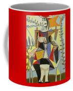 Lady Sitting Coffee Mug