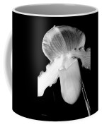 Lady Slipper Orchid Black And White Coffee Mug
