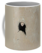 Lady With Black Fur Coffee Mug